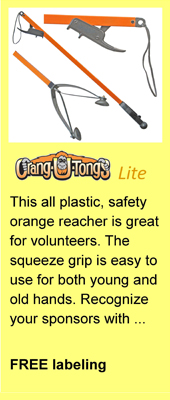 Orang-U-Tongs Lite Litter Pick Up Tool