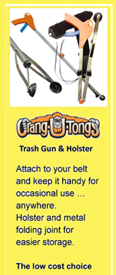 Trash Gun litter pick up tool